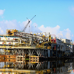 A docked rig at the Port of Iberia, Louisiana, U.S., on Friday, August 19, 2016.  Photographer: Derick E. Hingle/Bloomberg