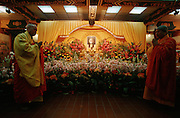 Lantau island, Po Lin monastery. Mourning ceremony in honour of Deng Xiao-Ping.