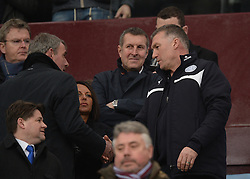 Leicester City Manager, Nigel Pearson waits to take his seat inside villa park. - Photo mandatory by-line: Alex James/JMP - Mobile: 07966 386802 - 15/02/2015 - SPORT - Football - Birmingham - Villa Park - Aston Villa v Leicester City - FA Cup - Fifth Round