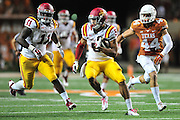 AUSTIN, TX - OCTOBER 18:  Allen Lazard #5 of the Iowa State Cyclones breaks free against the Texas Longhorns on October 18, 2014 at Darrell K Royal-Texas Memorial Stadium in Austin, Texas.  (Photo by Cooper Neill/Getty Images) *** Local Caption *** Allen Lazard