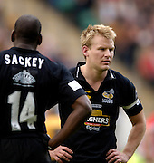 2006, Powergen Cup, Twickenham, right, Stuart Abbott, London Wasps vs Llanelli Scarlets, ENGLAND, 09.04.2006, 2006, , © Peter Spurrier/Intersport-images.com.   [Mandatory Credit, Peter Spurier/ Intersport Images].