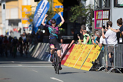 Tiffany Cromwell (AUS) of CANYON//SRAM Racing wins Stage 1 of the Lotto Thuringen Ladies Tour - a 124.8 km road race, starting and finishing in Schleiz on July 13, 2017, in Thuringen, Germany. (Photo by Balint Hamvas/Velofocus.com)