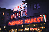 Pike Street Public Market, Farmers Market, Seattle, Washington