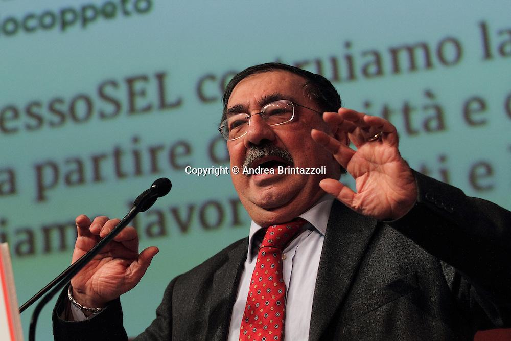 Riccione 25 Gennaio 2014 - 2&deg; Congresso Nazionale Sinistra Ecologia Liberta' - SEL<br /> Intervento di Fabio Mussi al congresso SEL