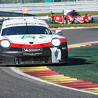 #92, Porsche Motorsport, Porsche 911 RSR,LMGTE Pro, driven by: Michael Christensen, Kevin Estre at FIA WEC Spa 6h, Circuit de Spa-Francorchamps motor-racing circuit, on 05.05.2018
