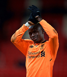 STOKE-ON-TRENT, ENGLAND - Wednesday, November 29, 2017: Liverpool's Sadio Mane applauds the travelling supporters after the FA Premier League match between Stoke City and Liverpool at the  Bet365 Stadium. (Pic by David Rawcliffe/Propaganda)