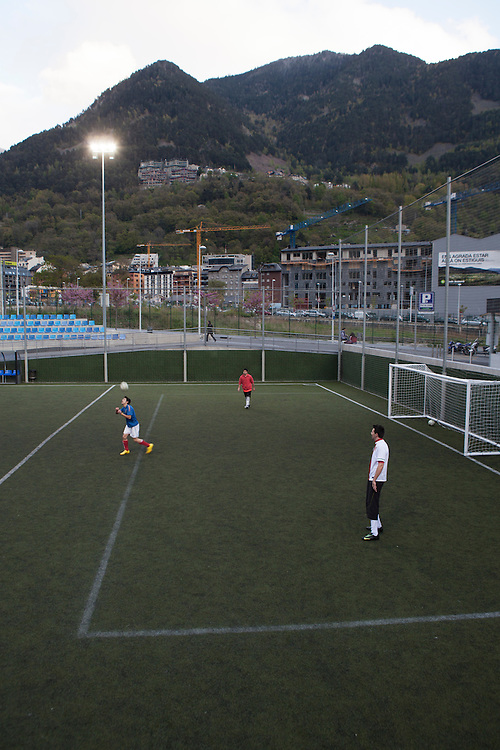 Football practice in Andorra.