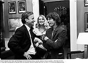 David Campell, Jerry Hall  and MickJagger at the Everyman Libary launch.  Spencer House, London.  1991.<br /> file 91632f4<br /> © Copyright Photograph by Dafydd Jones 66 Stockwell Park Rd. London SW9 0DA Tel 020 7733 0108 www.dafjones.com