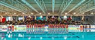 Squadre - Presentazione<br /> Padova (bianca) - Messina (blu)<br /> Finale 1-2 posto <br /> Final Four  Coppa Italia FIN Femminile pallanuoto 2016-17<br /> Centro Federale di Ostia, Roma, ITA<br /> 1 Aprile 2017<br /> &copy;Giorgio Scala / Deepbluemedia