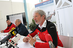 02.04.2019, Innsbruck, AUT, Alpinunfälle beim Wintersport, Pressekonferenz, Landespolizeidirektion Tirol, Österreichisches Kuratorium für Alpine Sicherheit, Bergrettung Tirol, im Bild v.l. Viktor Horvath (Leiter Alpindienst Polizei), Karl Gabl (Präsident Kuratorium für Alpine Sicherheit), Hermann Spiegl (Landesleiter Bergrettung Tirol) // during a press conference of the Provincial Police Tirol, Austrian Board of Trustees for Alpine Safety, Mountain Rescue Tirol on the report - winter 2018/19 - Alpine accidents in winter sports in Innsbruck, Austria on 2019/04/02. EXPA Pictures © 2019, PhotoCredit: EXPA/ Johann Groder