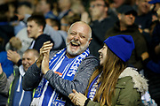 Fans of Sheffield Wednesday celebrate the goal scored by Kadeem Harris of Sheffield Wednesday during the EFL Sky Bet Championship match between Sheffield Wednesday and Luton Town at Hillsborough, Sheffield, England on 20 August 2019.