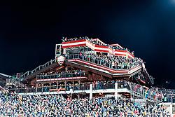 THEMENBILD - Bereits zum 22. Mal begeistert der FIS Nachtslalom der Herren am 29. Jänner 2019 tausende Zuseher im WM-Austragungsort 2013 in Schladming, hier im Bild:  Archivbild vom 23.01.2018, Planai, Schladming, AUT, FIS Weltcup Ski Alpin, Schladming, Slalom, Herren, im Bild Übersicht Hohenhaus Tenne mit Zuschauern // Overview of the stadium and Hohenhaus Tenne with spectators during the men's Slalom of FIS Ski Alpine World Cup at the Planai in Schladming, Austria on 2018/01/23. EXPA Pictures © 2018, PhotoCredit: EXPA/ Johann Groder