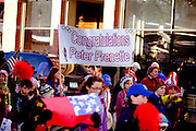A Celebratory parade honoring North Country Winter Olympic Athletes, including Nordic Combined Gold and Silver Medalist Bill Demong, Biathletes Tim Burke and Haley Johnson, Lugers Mark Grimette and Chris Mazdzer, Bobsledder John Napier. (Photo/Todd Bissonette - http://www.rtbphoto.com
