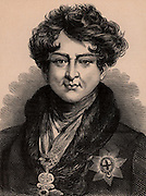 George IV (1762-1830), son of George III, Prince Regent from 1811due to his father's illness. King of Great Britain and Ireland from 1820. Member of the Hanoverian dynasty. Wood engraving c1900.