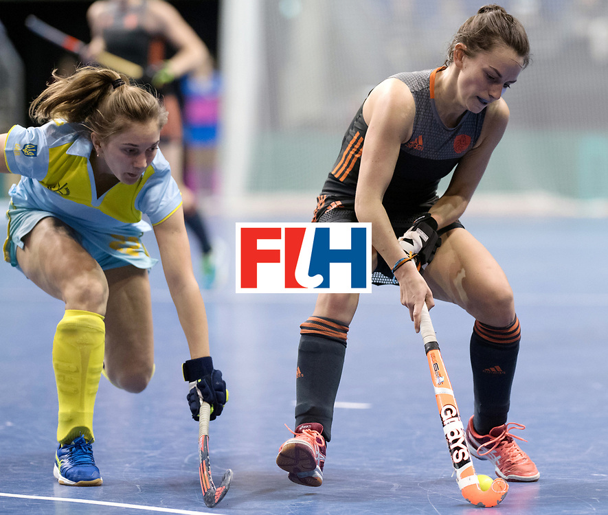 BERLIN - Indoor Hockey World Cup<br /> SF1 Netherlands - Ukraine<br /> foto: Kiki van Wijk  <br /> WORLDSPORTPICS COPYRIGHT FRANK UIJLENBROEK