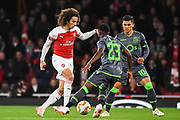 Arsenal Midfielder Matteo Guendouzi (29) in action during the Europa League group stage match between Arsenal and Sporting Lisbon at the Emirates Stadium, London, England on 8 November 2018.