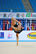 Assymova Aliya during qualifying at hoop in Pesaro World Cup 10 April 2015.<br />