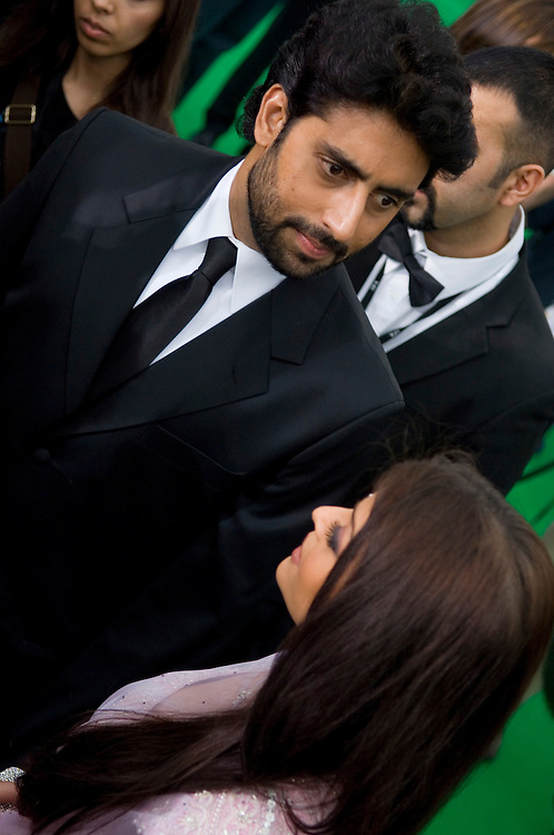 SHEFFIELD, UNITED KINGDOM - 9th June 2007: Newlywed actors Bollywood actors Abhishek Bachchan and Aishwarya Rai at International Indian Film Academy Awards (IIFAs) at the Sheffield Hallam Arena on June 9, 2007 in Sheffield, England.