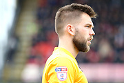 EFL Badge on Port Vale player  during the EFL Sky Bet League 2 match between Grimsby Town FC and Port Vale at Blundell Park, Grimsby, United Kingdom on 10 March 2018. Picture by Mick Atkins.