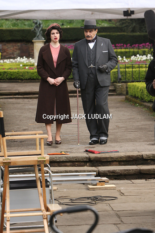 Shooting The Third Girl in Holland Park London,<br /> One of Suchet's hobbies is photography,