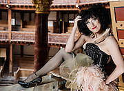 Performance artist Meow Meow poses for a portrait act the Globe Theatre in London on April 9th 2016.<br /> <br /> Meow Meow will debut as Titania in opening production A MIDSUMMER NIGHT'S DREAM this April,<br />  April 9th 2016.<br /> <br /> Ki Price