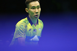 April 27, 2018 - Wuhan, Wuhan, China - Wuhan, CHINA-27th April 2018:Malaysian badminton player Lee Chong Wei defeats Srikanth Kidambi 2-0 at 2018 Badminton Asia Championships in Wuhan, central China's Hubei Province, April 27th, 2018. (Credit Image: © SIPA Asia via ZUMA Wire)