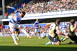 QPR's Armand Traore takes a shot at goal - Photo mandatory by-line: Mitchell Gunn/JMP - Tel: Mobile: 07966 386802 01/03/2014 - SPORT - FOOTBALL - Loftus Road - London - Queens Park Rangers v Leeds United - Championship