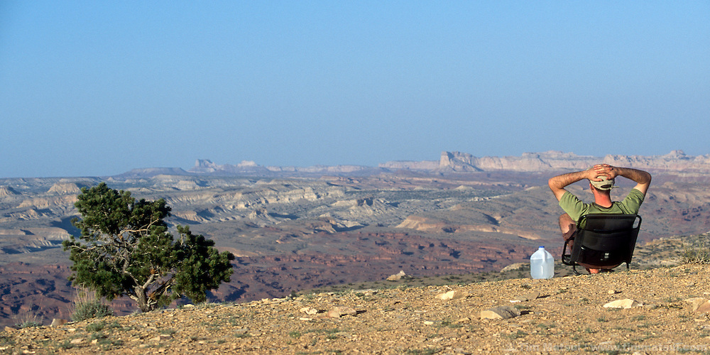 Jeff Friesen looks over Utah's San Rafael Swell.