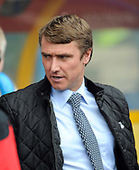 Picture by Graham Crowther/Focus Images Ltd. 07763140036.10/9/11 .Lee Clark manager of Huddersfield in the game against Tranmere  at the Galpharm Stadium, Huddersfield.