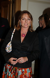 Former Blue Peter presenter JANET ELLIS mother of singer Sophie Ellis-Bextor and ? at The Caron Keating Foundation Dinner in honour of the late TV presenter who died in April 2004, held at The Savoy, London on 4th October 2004.<br />