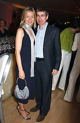 MR TIM & LADY HELEN TAYLOR at a party at The Sanderson Hotel, Bernnnnners Street, London in aid of Sargent Cancer Care for Children on 7th July 2004.