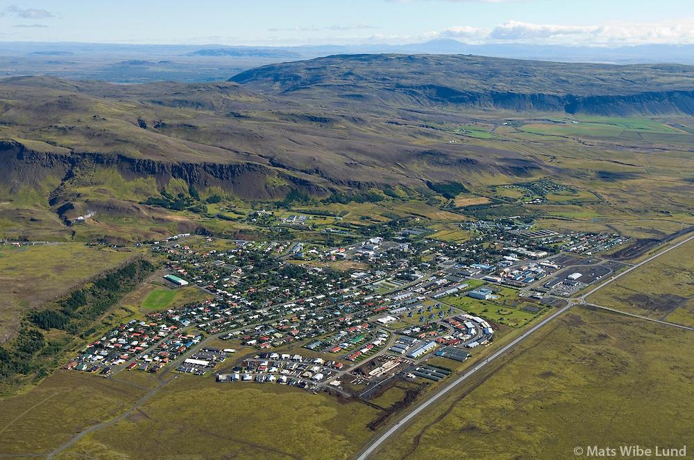 Hveragerði séð til austurs / Hveragerdi viewing east.