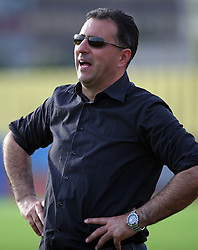 Coach of Koper Vlado Badzim at football match  NK Koper vs NK Domzale in 29th round of Prva Liga Telekom Slovenije, on April 19, 2008, in Bonifika stadium in Koper. Match ended with  2:2 draw. (Photo by Vid Ponikvar / Sportal Images)