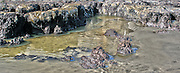 Tidal pool on Jekyll Island that resembles a rugged coastline on an unexplored continent.