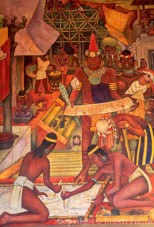 MEXICO, MEXICO CITY, MURAL Rivera mural 'Tarascan Civilization'