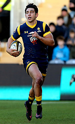 Bryce Heem of Worcester Warriors - Mandatory by-line: Robbie Stephenson/JMP - 28/01/2017 - RUGBY - Sixways Stadium - Worcester, England - Worcester Warriors v Harlequins - Anglo Welsh Cup