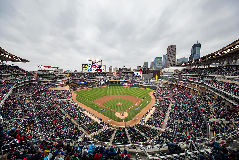 MINNEAPOLIS, MN- APRIL 3: A general view of Target Field during a game between the Minnesota Twins and the Kansas City Royals on April 3, 2017 at Target Field in Minneapolis, Minnesota. The Twins defeated the Royals 7-1. (Photo by Brace Hemmelgarn) *** Local Caption ***