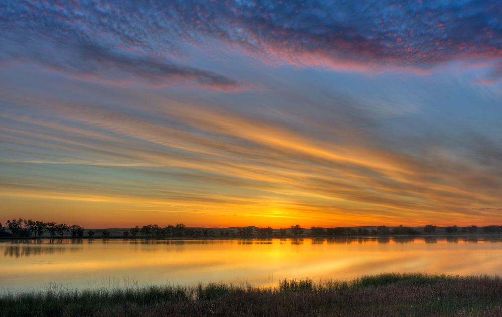 Sunrise over Smith Lake in the Sandhills of Nebraska