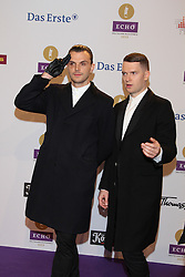 "Hurts, German ""Echo"" music award in Messegelaende, Berlin, Germany, 21, March 2013. Photo by Elliott Franks / i-Images..."