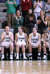 07 January 2017:  Maddie Merritt, Rebekah Ehresman, Ashley Schneider, and Molly McGraw during an Wheaton Thunder and the Illinois Wesleyan Titans in Shirk Center, Bloomington IL