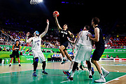 Shea Ili of New Zealand puts up a shot during the Men's Bronze Medal Game between the New Zealand Tall Blacks and Scotland. Gold Coast 2018 Commonwealth Games, Basketball, Gold Coast Convention & Exhibition Centre, Gold Coast, Australia. 15 April 2018 © Copyright Photo: Anthony Au-Yeung / www.photosport.nz