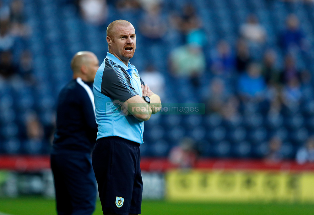 "Burnley manager Sean Dyche on the touchline during the pre-season friendly match at Deepdale, Preston. PRESS ASSOCIATION Photo. Picture date: Tuesday July 25, 2017. See PA story SOCCER Preston. Photo credit should read: Martin Rickett/PA Wire. RESTRICTIONS: EDITORIAL USE ONLY No use with unauthorised audio, video, data, fixture lists, club/league logos or ""live"" services. Online in-match use limited to 75 images, no video emulation. No use in betting, games or single club/league/player publications."