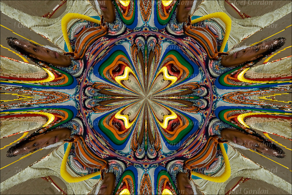 Colorful kaleidoscope of shapes, patterns, textures and design elements