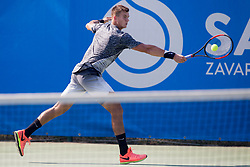 Karol Drzewiecki (POL) play against Evgeny Karlovskiy (RUS) during ATP Challenger Zavarovalnica Sava Slovenia Open 2017, on August 6, 2017 in Sports centre, Portoroz/Portorose, Slovenia. Photo by Urban Urbanc / Sportida