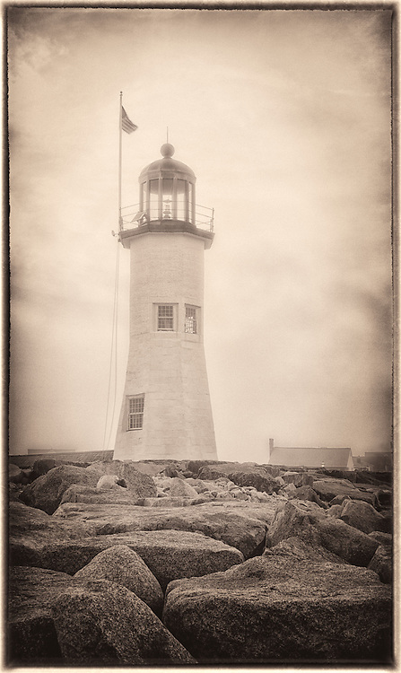 Old feel image to an old lighthouse on the East Coast of USA.