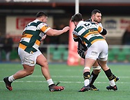 Pontypridds' Chris Dicomidis<br /> <br /> Photographer Mike Jones/Replay Images<br /> <br /> Principality Premiership Merthyr v Pontypridd - Saturday 17th February 2018 - The Wern Merthyr Tydfil<br /> <br /> World Copyright © Replay Images . All rights reserved. info@replayimages.co.uk - http://replayimages.co.uk