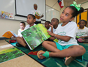 """Students participate in the """"Read Sunnyside Read"""" program at Woodson K-8 School, June 11, 2015."""