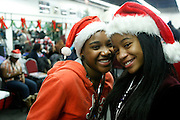 New York, NY- December 25- l to r: Makyla Elliott and Victoria Panell  at the Rev. Al Sharpton and National Action Network Feeding of the Hungry on Christmas Day & Toy Giveaway at the Annual NAN Event held at the NAN's House of Justice on December 25, 2011 in Harlem, New York City. Photo Credit: Terrence Jennings