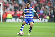 Reading defender Liam Moore (16) in action during the EFL Sky Bet Championship match between Nottingham Forest and Reading at the City Ground, Nottingham, England on 22 April 2017. Photo by Jon Hobley.
