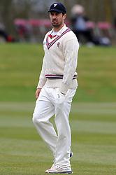 Somerset's Tim Groenewald - Photo mandatory by-line: Harry Trump/JMP - Mobile: 07966 386802 - 23/03/15 - SPORT - CRICKET - Pre Season Fixture - Day 1 - Somerset v Glamorgan - Taunton Vale Cricket Club, Somerset, England.